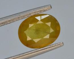 Top Clarity & Color 1.70 ct Rarest Yellow Sapphire~Sri Lanka