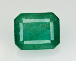 7.70 Ct Brilliant Color Natural Zambian Emerald_ SM