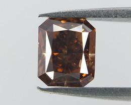 Rare RADIANT Cut Diamond ,COGNAC Color Diamond  ,0.30 cts