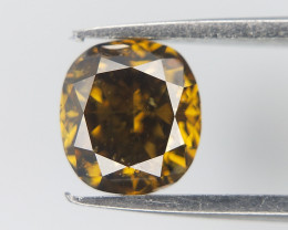 0.47 cts , Fancy overtone Diamond , Cushion Brilliant Cut