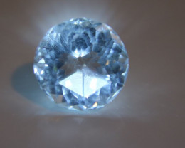 Aquamarine 10.00ct Natural Untreated Round