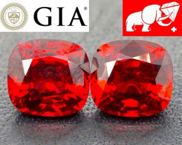 PIGEON'S BLOOD VIVID Red Spinel Pair (BURMA) | $4,250 | FREE SHIPPING!
