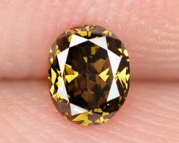 0.14 Cts Untreated Natural Fancy Deep Honey Color Loose Diamond