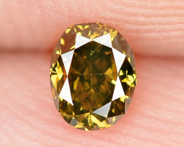 0.16 Cts Untreated Natural Fancy Deep Honey Color Loose Diamond