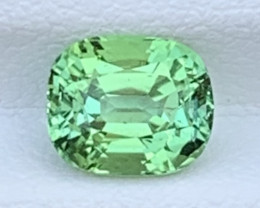 MINT APPLE GREEN 2.50 Carats Natural Color Tourmaline Gemstone FROM AFGHANI