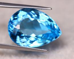 23.62ct Natural Swiss Blue Topaz Pear Cut Lot V6372