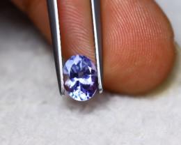 1.13ct Natural Violet Blue Tanzanite Oval Cut Lot V6375