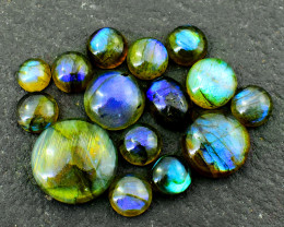 Genuine 118.00 Cts Labradorite Cabochon Lot