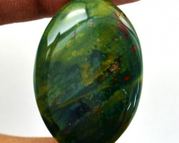 Genuine  50.00 cts  Bloodstone Oval Shape Cabochon