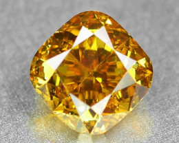 0.56 Cts Untreated Fancy Natural Vivid Orange Color Loose Diamond