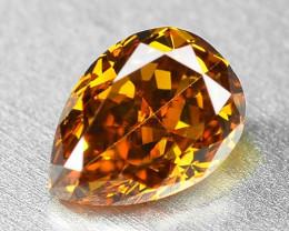 0.49 Cts Untreated Natural Vivid Orange Fancy Color Loose Diamond