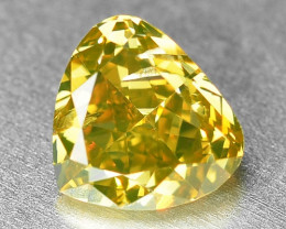 0.69 Cts Untreated Fancy Yellowish Green  Color Natural Loose Diamond