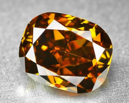 0.77 Cts Untreated Natural Fancy Deep Honey Color Loose Diamond