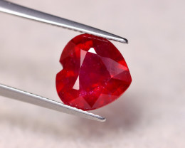 6.36ct Blood Red Color Ruby Heart Cut Lot V6376