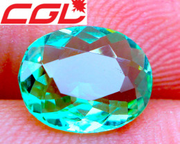 LOUPE-CLEAN! NEON! Cert. 1.84 CT Glowing Green Tourmaline | FREE SHIPPING!