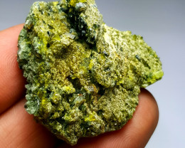 Amazing Natural color Damage free Epidote with Black Mica and Diposite131Ct