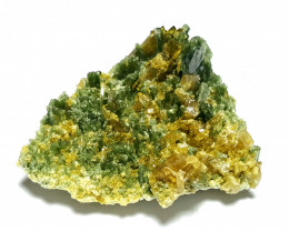 Amazing Natural Color Damage free Diposite combine with Epidote cluster  75