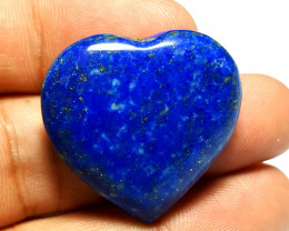 Amazing Natural color Heart of  Lapis  Lazuli Pendant 71.5 Cts-A