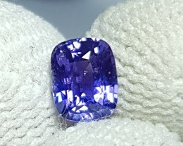 CERTIFIED 1.04 CTS NATURAL STUNNING CUSHION MIX VIOLET BLUE SAPPHIRE SRI LA