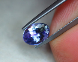 1.35ct Natural Violet Blue Tanzanite Oval Cut Lot GW5557