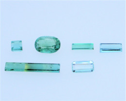 FREE SHIPPING! Neon Lagoon Green-Blue 5.35 CT Tourmaline Lot (Afghanistan)