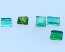 FREE SHIPPING! Neon Lagoon Green-Blue 4.47 CT Tourmaline Lot (Afghanistan)