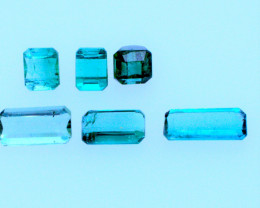 FREE SHIPPING! Neon Lagoon Green-Blue 5.09 CT Tourmaline Lot (Afghanistan)