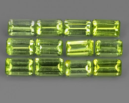 3.90 CTS NATURAL PERIDOT OCTOGON PARCEL 12 PCS~EXCELLENT!!