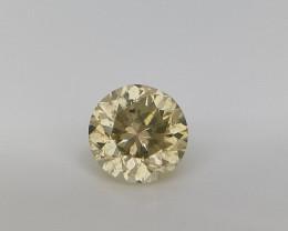 0.22 cts , Fancy Yellow Diamond , Round brilliant diamond,Milky Diamond