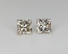 0.31 Loose Natural Diamonds , Princess Cut Diamonds , Grey Color