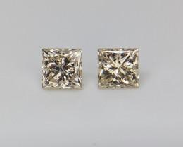 0.48 cts , Loose Natural Diamond ,Fancy  Princess Cut Diamonds.