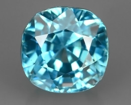 1.55 CTS~EXQUISITE NATURAL GOOD COLOR BLUE ZIRCON!