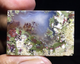 70.05 CT GORGEOUS MOSS AGATE GARDEN PICTURE FROM INDONESIA