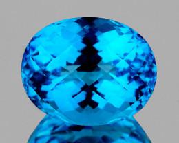 13x10 mm Oval 7.72cts Swiss Blue Topaz [VVS]