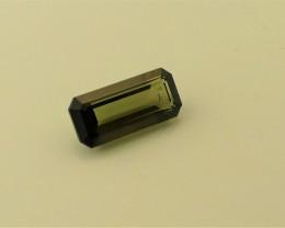 Green Tourmaline Gemstone Emerald cut