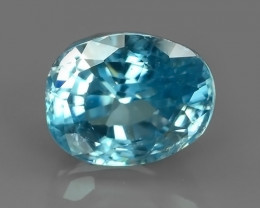 3.65 CTS ATTRACTIVE ULTRA RARE NATURAL BLUE ZIRCON EXECLLENT!!
