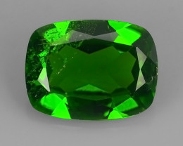 1.80 Cts Eye Catching Natural Rich Green Chrome Diopside Cushion