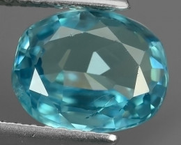 3.10 CTS BEST QUALITY~LIGHT BLUE COLOR EXTREME LUSTROUS GENUINE FIRE ZIRCON