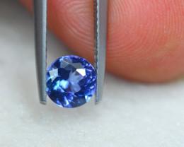 0.87ct Natural Violet Blue Tanzanite Round Cut Lot V6378