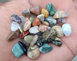 100 Carats Mixed Gemstones Tumbled 100% Natural & Untreated VA740