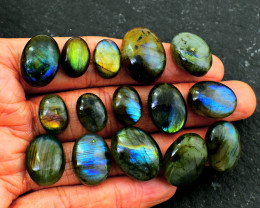 Genuine 191.00 Cts 15 Pcs Labradorite Cab Lot