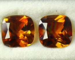9.15 CT Natural - Unheated Brown Topaz Gemstone Pair