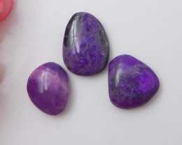 20Cts sugilite lovely cabochons bead customized jewelry F408