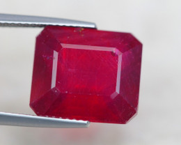 13.08ct Blood Red Color Ruby Octagon Cut Lot V6401