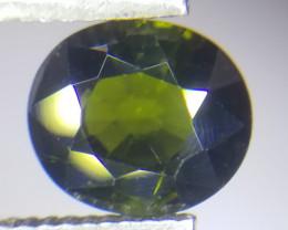 Turmalin, 2.45ct, Moosgrün, herrliche Farbe äußerst schöner Stein!
