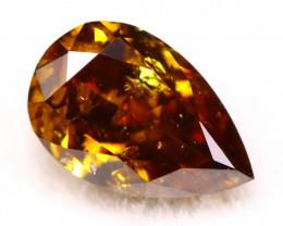 Diamond 4.42mm Natural Untreated Fancy Color Diamond C68
