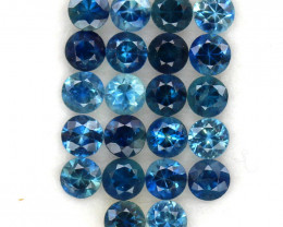 4.06 ct. 3.4 MM. NATURAL GEMSTONE MULTI COLOR SAPPHIRE DIAMOND CUT 22PCS.