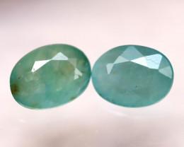 Grandidierite 1.67Ct 2Pcs Natural World Rare Gemstone E2101/B11