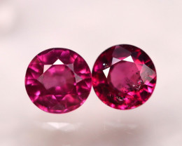 Rhodolite 1.65Ct 2Pcs Natural Purple Rhodolite Garnet E2104/B2