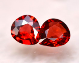 Rhodolite 2.26Ct 2Pcs Natural Cherry Red Rhodolite Garnet E2116/B26